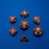 DICE GEMSTONE 7 RPG GOLD SANDSTONE