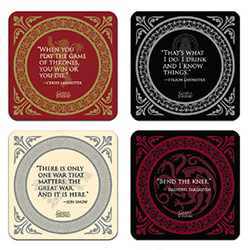 DHC3003014-GOT COASTER SET (QUOTES)