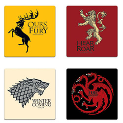 GOT HOUSE SIGIL COASTER SET4pc