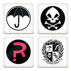 DHC3004532-UMBRELLA ACADEMY COASTER SET 4PC