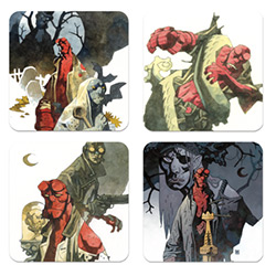 DHC3004535-HELLBOY COASTER SET 4PC
