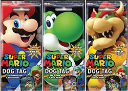 EPSUMADTFP-SUPER MARIO DOG TAG FUN PACKS