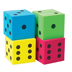 KP10947-FOAM DICE 100MM BLUE