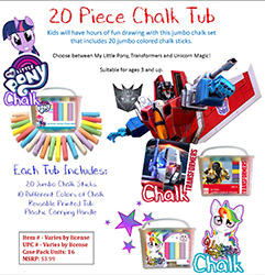 20 PC CHALK TUB - M. L. PONY