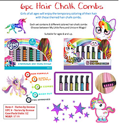 FOCMP25316PC-6 PC HAIR CHALK - M.L. PONY