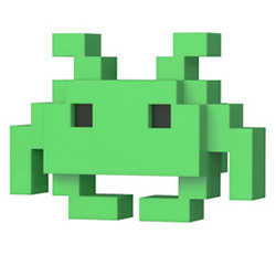FU32454-POP 8-BIT SPACE INVADERS MD