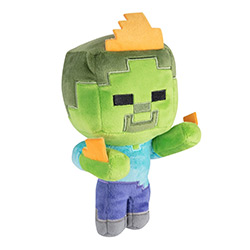 JX8752-MINECRAFT PLUSH ZOMBIE ON FIRE