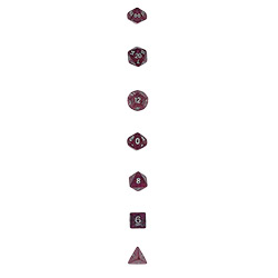 KP02894-GLITTER POLY DICE 7PC PURPLE