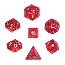 KP02984-PEARLIZED POLYHEDRAL 7PC RED