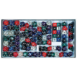 KP03204-PEARLIZED POLY DICE SAMPLER BX