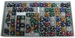 KP03594-GLITTER POLY DICE SAMPLER BOX