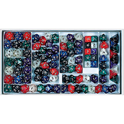 KP03600-PEARLIZED POLY DICE SAMPLER BX