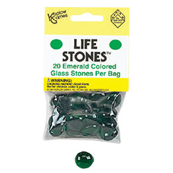 KP05004-LIFE STONES 20/BAG EMERALD