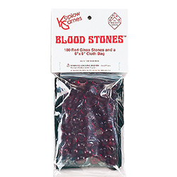 KP05006-BLOOD STONES W/ BAG 100PC RED