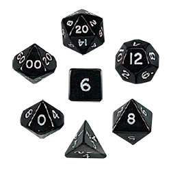 KP05855-JUMBO POLYHEDRAL 7PC BLACK
