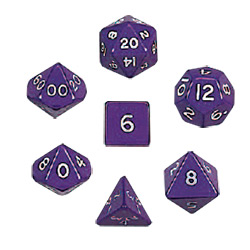 KP05857-JUMBO POLYHEDRAL 7PC PURPLE