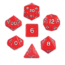 KP05858-JUMBO POLYHEDRAL 7PC RED