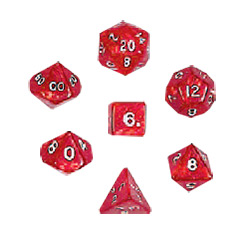 KP10078-PEARLIZED POLYHEDRAL 10PC RED
