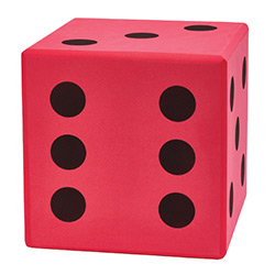 KP10957-FOAM DICE 400MM RED