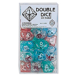 KP11800-D10 DOUBLE DICE 40PC CLEAR