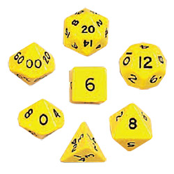 KP13044-JUMBO POLYHEDRAL 7PC YELLOW