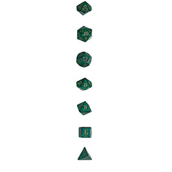 KP13115-ELEMENTAL DICE 7PC PLUG TUBE
