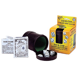 KP13433-DICE CUP SET W/ CARDS & DICE