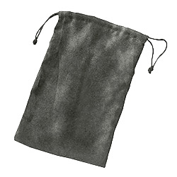 KP18123-DICE BAG MICRO SUEDE GRAY