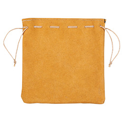 KP18833-DICE BAG LEATHER BAG TAN