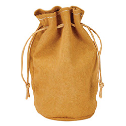 KP19042-DICE BAG LEATHER POUCH TAN SM