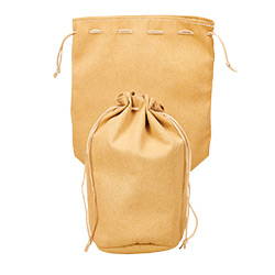KP19043-DICE BAG LEATHER POUCH TAN