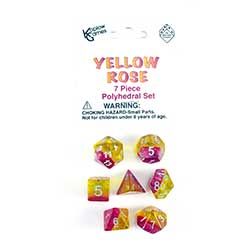 KP19414-LAYERED DICE 7PC YELLOW ROSE