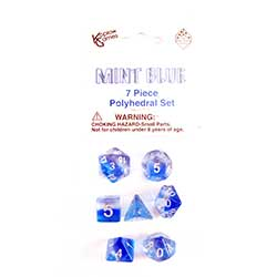 KP19415-LAYERED DICE 7PC MINT BLUE