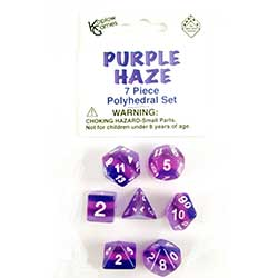 KP19418-LAYERED DICE 7PC PURPLE HAZE