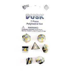 KP19420-LAYERED DICE 7PC DUSK