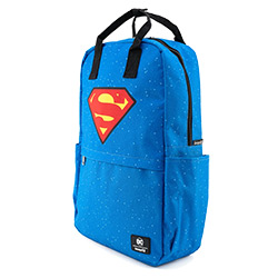 LFDCCBK0037-LOUNGEFLY DC SUPERMAN SHIELD BACKPACK NYLON