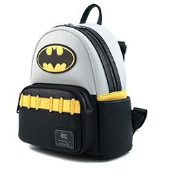 LFDCCBK0041-LOUNGEFLY DC BATMAN COSPLAY BACKPACK FAUX LEATHER