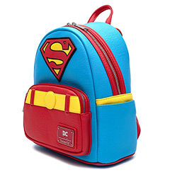 LFDCCBK0042-LOUNGEFLY DC SUPERMAN COSPLAY BACKPACK FAUX LEATHR