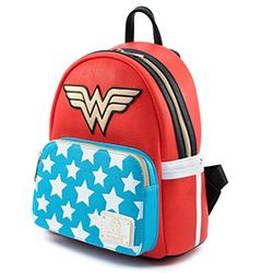 LFDCCBK0043-LOUNGEFLY DC WONDER WOMAN COSPLAY BKPK FAUX LEATHR