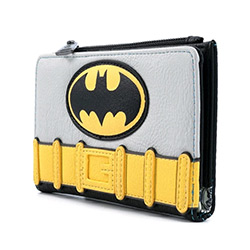 LFDCCWA0027-LOUNGEFLY DC BATMAN COSPLAY WALLET FAUX LEATHER