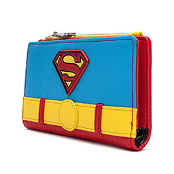 LFDCCWA0028-LOUNGEFLY DC SUPERMAN COSPLAY WALLET FAUX LEATHR