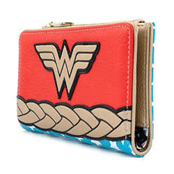LFDCCWA0029-LOUNGEFLY DC WONDER WOMAN WALLET FAUX LEATHER