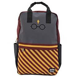 LFHPBK0075-LOUNGEFLY HARRY POTTER GLASSES NYLON BACKPACK