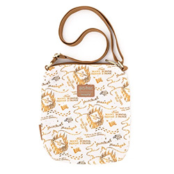 LFHPTB0127-LOUNGEFLY HARRY POTTER MARAUDERS MAP NYLON BAG