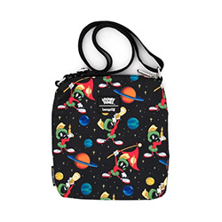 LFLTTB0001-LOUNGEFLY LOONEY TUNES MARVIN NYLON PASSPORT BAG