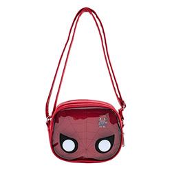 LFMVTB0099-LOUNGEFLY MARVEL SPIDERMAN CROSSBODY BAG W/ PIN