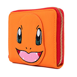 LFPMWA0078-LOUNGEFLY POKEMON CHARMANDER FAUX LEATHER WALLET