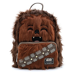 LFSTBK0151-LOUNGEFLY STAR WARS CHEWBACCA FAUX FUR BACKPACK