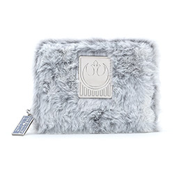 LFSTWA0128-LOUNGEFLY STAR WARS HOTH FAUX FUR WALLET