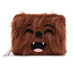 LFSTWA0129-LOUNGEFLY STAR WARS CHEWBACCA FAUX FUR WALLET